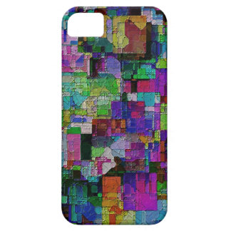 Abstract colorful paint blocks. iPhone 5 case