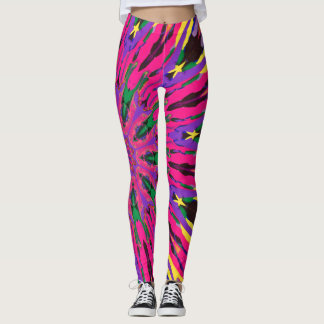 Abstract Colorful Painting Leggings