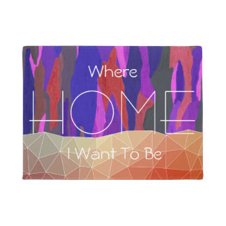 Abstract Colorful Pastel look Design Doormat