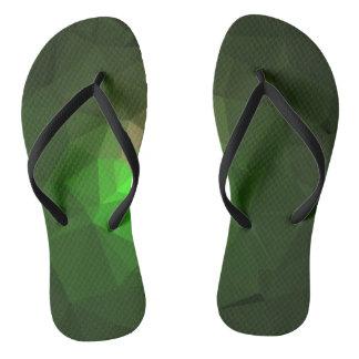 Abstract & Colorful Pattern Design - Green Lantern Flip Flops