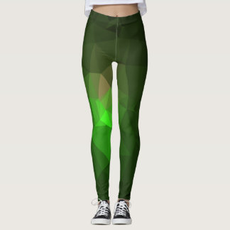 Abstract & Colorful Pattern Design - Green Lantern Leggings
