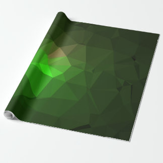 Abstract & Colorful Pattern Design - Green Lantern Wrapping Paper