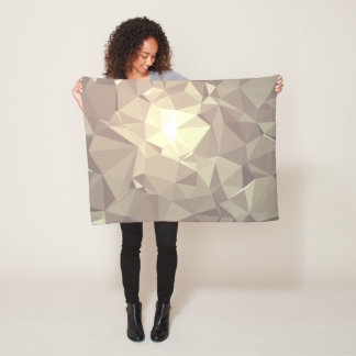 Abstract & Colorful Pattern Design - Hazy Fox Fleece Blanket