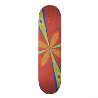 Abstract colorful pattern skateboard deck