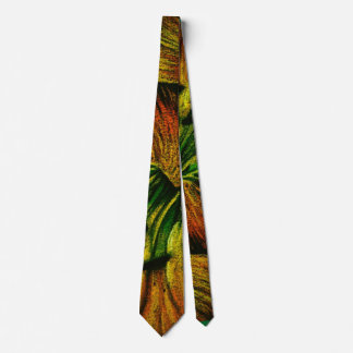 abstract colorful plant design original quirky tie