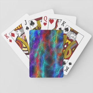 Abstract colorful playing card
