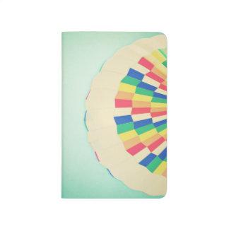 Abstract Colorful Rainbow Hot Air Balloon Journal