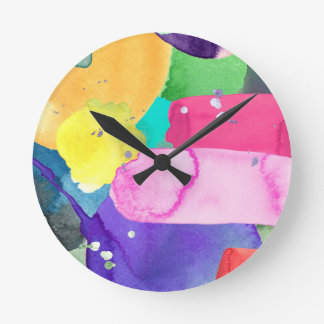 ABSTRACT COLORFUL ROUND CLOCK