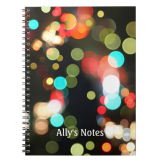 Abstract Colorful Round Funky Fun Bokeh Lights Notebooks