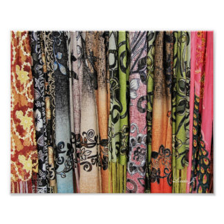 Abstract Colorful Scarves from Israel Canvas Print