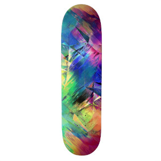 Abstract Colorful Shapes and Textures Skateboard Deck