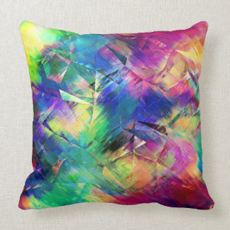 Abstract Colorful Shapes and Textures Throw Pillow