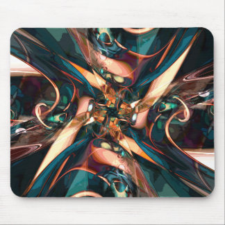 Abstract Colorful Shapes Mouse Pad