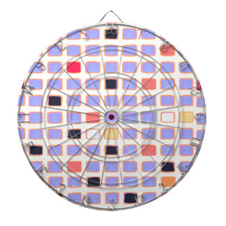 Abstract Colorful Squares Mondrian Alike Art Style Dartboard