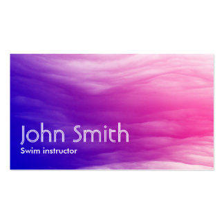 Abstract Colorful Swim Instructor Business Card