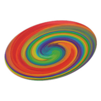Abstract Colorful Swirl Pattern #2 Plate