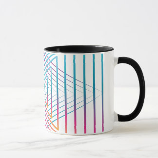 Abstract colorful triangle mug