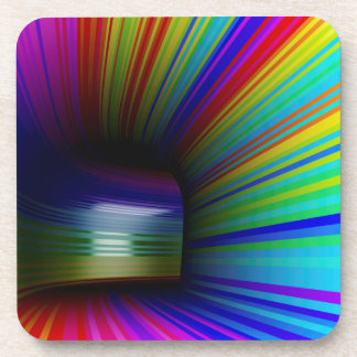 Abstract colorful tunnel coaster
