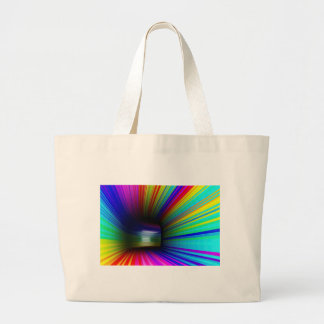 Abstract colorful tunnel large tote bag