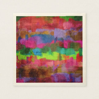 Abstract Colorful Watercolor Pattern Disposable Napkins