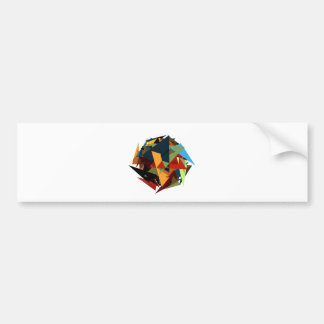 Abstract colors bumper sticker