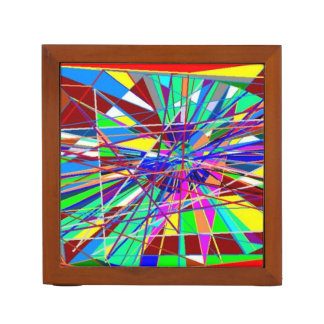 Abstract Colors Desk Organizer