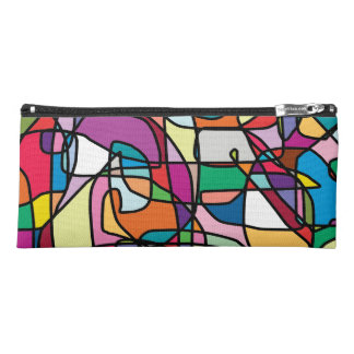 Abstract Colors Doodle Pencil Case