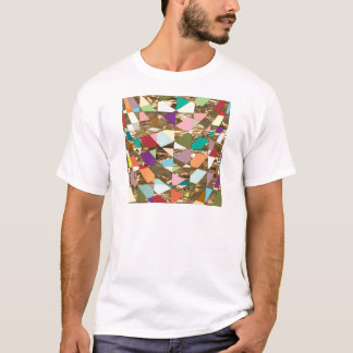 Abstract Colors Gold Foil T-Shirt