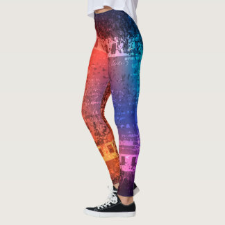 Abstract Colors Leggings