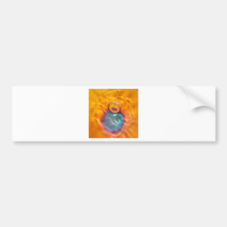 Abstract Colors Oil Drip Bumper Sticker