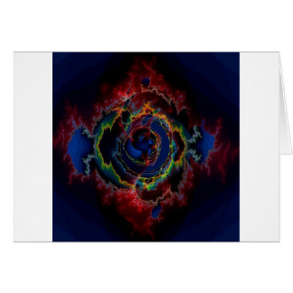 Abstract Colors Outer Limits Card