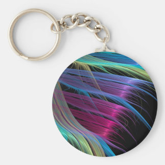 Abstract Colors Satin Ends Keychain