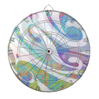 Abstract Colors Waves Design Dartboard
