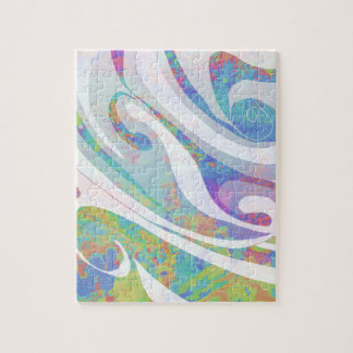 Abstract Colors Waves Design Puzzle