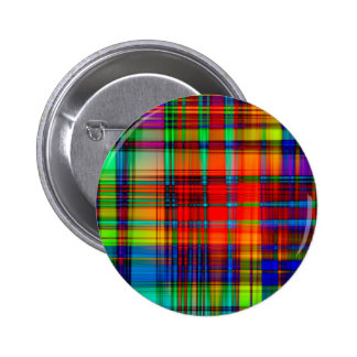Abstract Coloured Art Lines 2 Inch Round Button