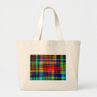 Abstract Coloured Art Lines Jumbo Tote Bag