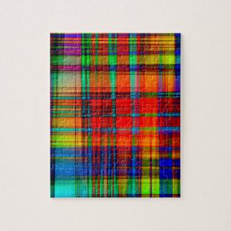 Abstract Coloured Art Lines Puzzles