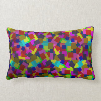 Abstract Coloured Scattered Paper Pattern, Lumbar Pillow