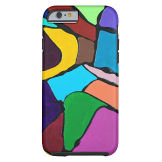 Abstract Colourful Art Design Tough iPhone 6 Case