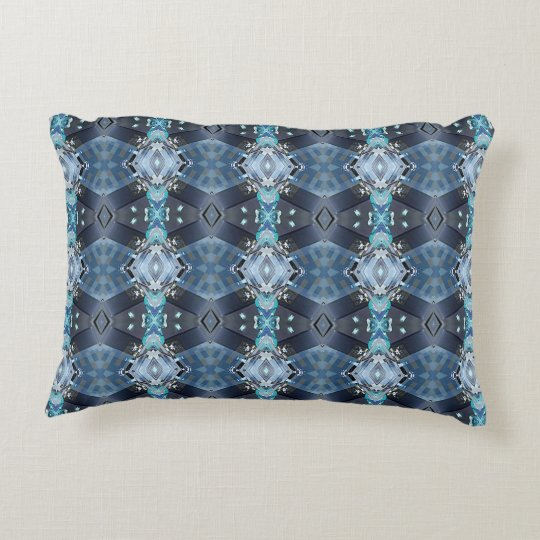 Abstract Colourful Blue Throw Accent Pillow