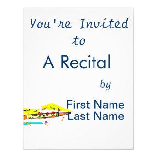 Abstract colourful clarinet graphic image design custom invite