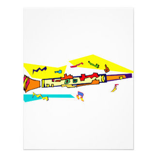 Abstract colourful clarinet graphic image design invitations