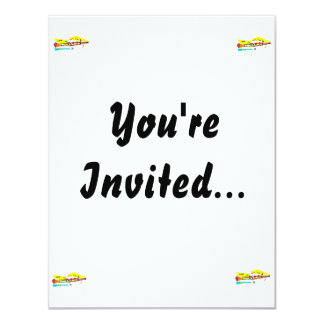 """Abstract colourful clarinet graphic image design 4.25"""" x 5.5"""" invitation card"""