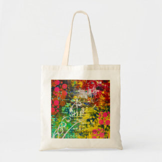 abstract colourful designed tote bag
