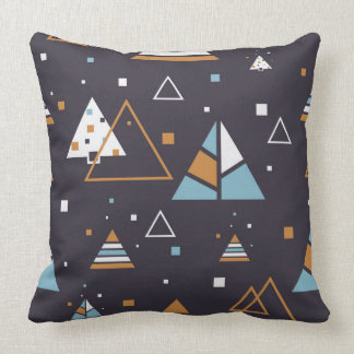 Abstract Colourful Geometric Triangles Pattern Throw Pillow