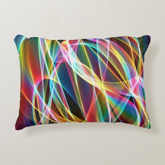 Abstract Colourful Line Design Decorative Pillow
