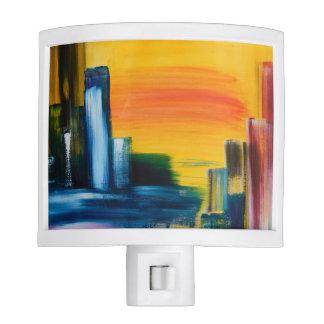 Abstract Colourful Original Art Night Light