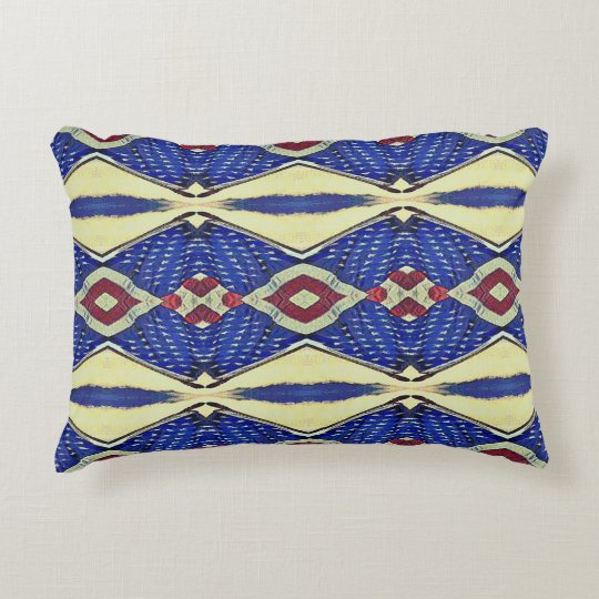 Abstract Colourful RedBlue Teal Throw Accent Decorative Pillow