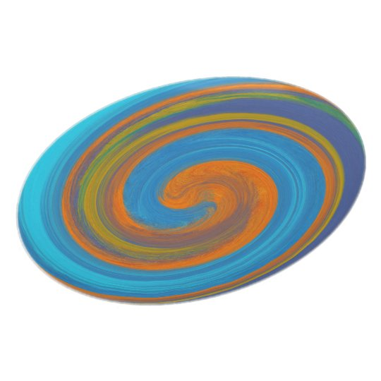 Abstract Colourful Swirl Pattern #3 Plate