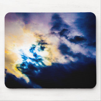Abstract colours mouse pad